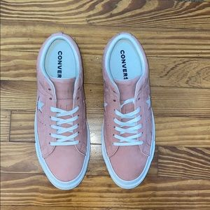 Converse One Star Pink Shoes Suede
